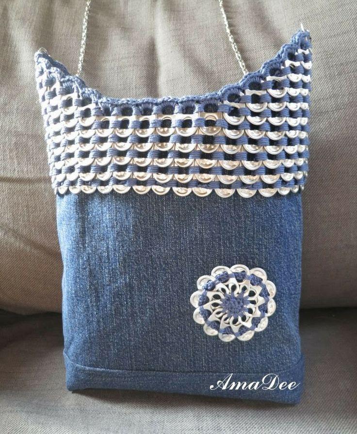 Amalian Aarteet...denim bag and  popp tab embellishmentst