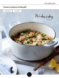 Waitrose Food March 2017: Cinnamon and lemon chicken pilaf