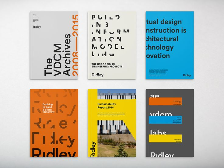 Corporate brochures by RE: for digital architecture and documentation service Ridley. Featured on bpando.org