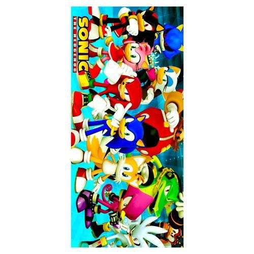 35CMX70CM Washcloth!Cartoon Game&Sonic the Hedgehog Pattern Printed Solf Bamboo Microfiber Towel For Bath&Beach&Gym&Camping Use
