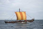 Havhingsten (The Sea Stallion) at the Viking Ship Museum in Roskilde, Denmark. Foto: Werner Karrasch.