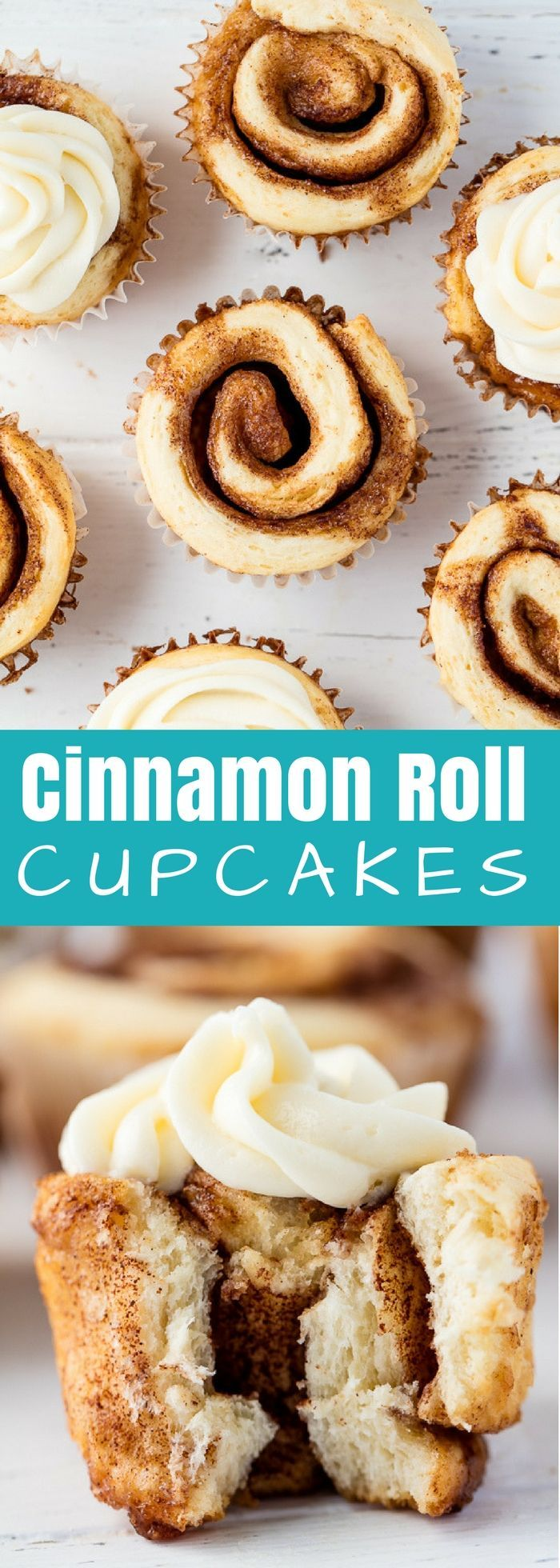 #Cinnamon #Roll #Cupcakes are a fun new way to serve up single sized individual portions.