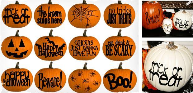 Done with Cricut: Cricut Ideas, Halloween Decor, Crafts Ideas, Fall Ideas, Decor Seasons Ideas, Halloween Pumpkin, Halloween Fall Thanksgiving, Fall Halloween, Pumpkin Decals