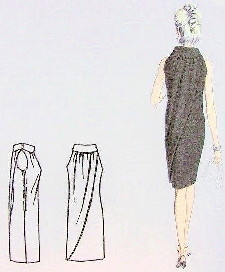 1960s Vogue Paris Original 1554 Vintage Sewing Pattern LAROCHE Cocktail Evening Dress Pattern Gorgeous Design Bust 32