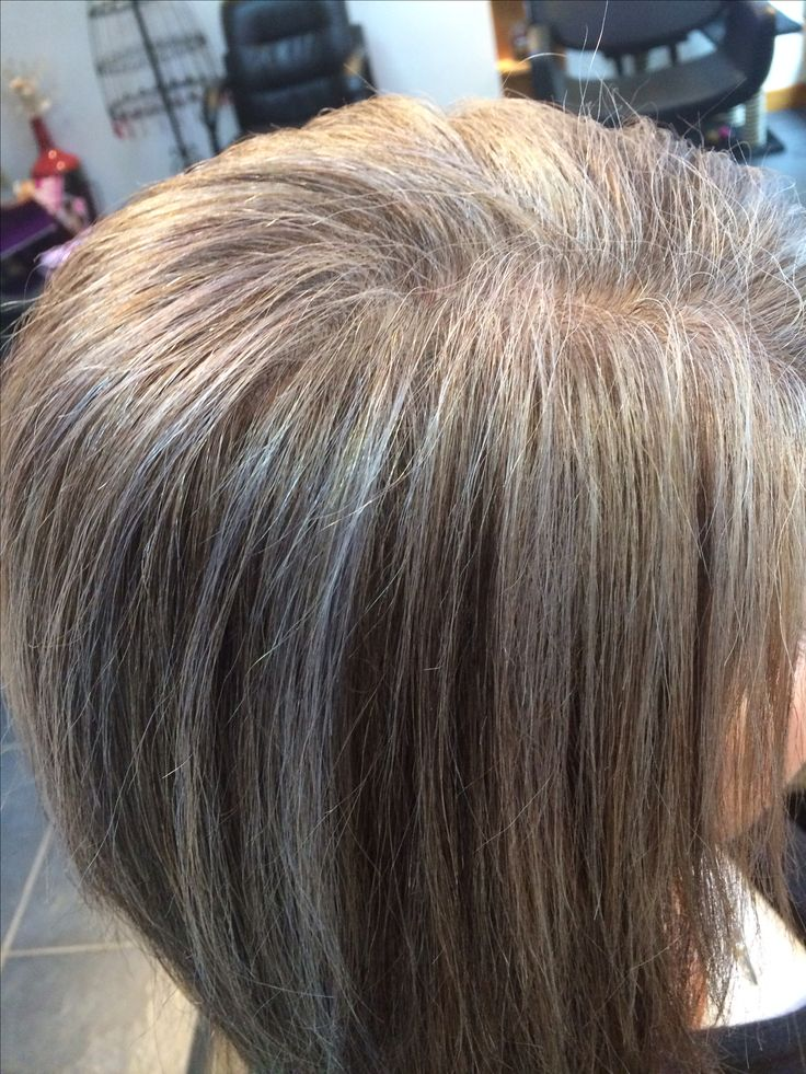 Silver highlights ! Easy way to start the transition to having gray hair..... I've been wanting to just dye my hair grey with Purple highlights.. ......