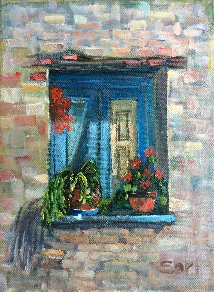 Ablak / Window 1.2  18x24 cm oil omn canvas