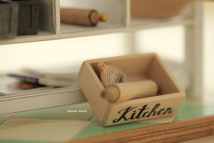 Dollhouse Accessories - Vintage Wooden Crates, handmade wooden Rustic box,Wooden Vintage Crate #miniature #mini #tiny #bread #kitchen #kikuikestudio #homedecor #gift #woodworking