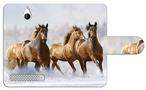 Sony Xperia E1 Uniek Design Hoesje Paarden  Sony Xperia E1 uniek paarden design boekhoesje met opbergvakjes. Door dit beschermhoesje heb je geen krassen deukjes of andere mogelijke beschadigingen aan je telefoon. Het hoesje is gemaakt van hoge kwaliteit PU-leder en heeft een plastic case. Deze case is speciaal voor de Xperia E1 gemaakt zodat je toestel er veilig en stevig in past. In de case zijn uitsparingen gemaakt zodat alle knoppen en poorten van je telefoon altijd te gebruiken blijven…