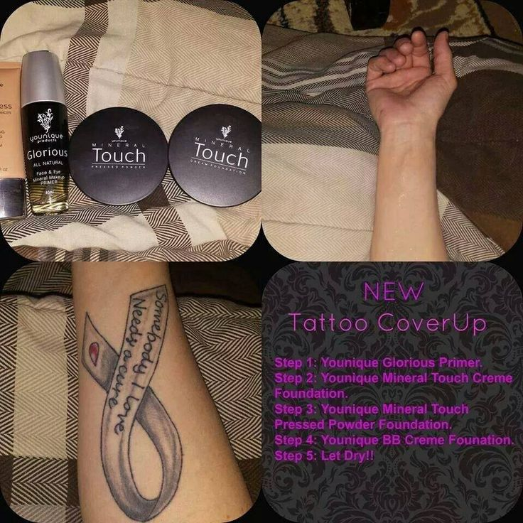 Temporary tattoo cover up using natural, vegan products
