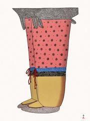 My New Boots by Ningeokuluk Teevee.2016 Cape Dorset Inuit Print