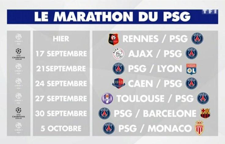 Le gros calendrier qui attend le PSG - http://www.actusports.fr/118093/gros-calendrier-attend-psg/