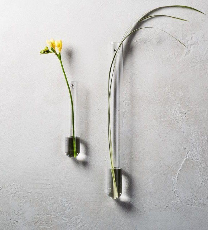 Beaker Glass Tube Wall Vases Cb2 Wall Vase Modern Vase Small Glass Vases