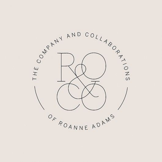 Great simple round logo design with text that's visible and still looks quite classy.