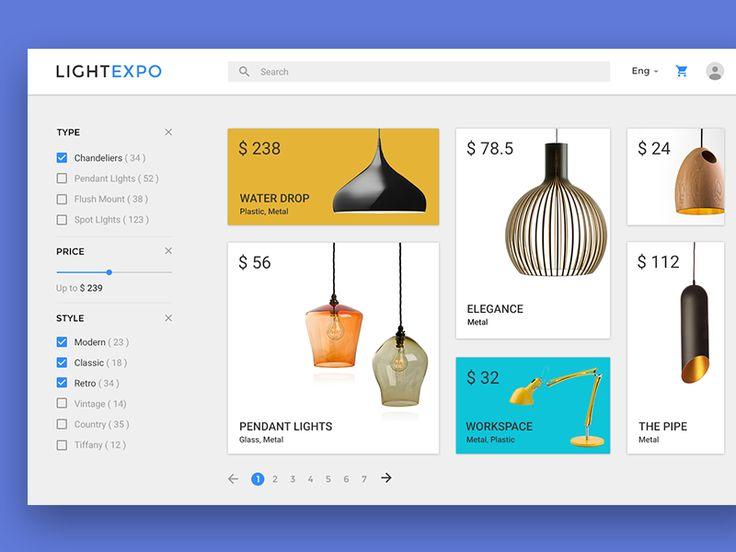 Material design - E-Commerce Website