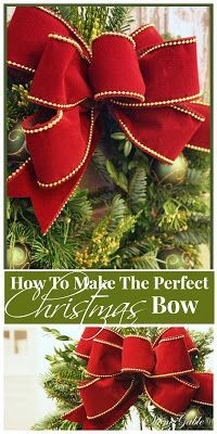 How to make the perfect Christmas bow