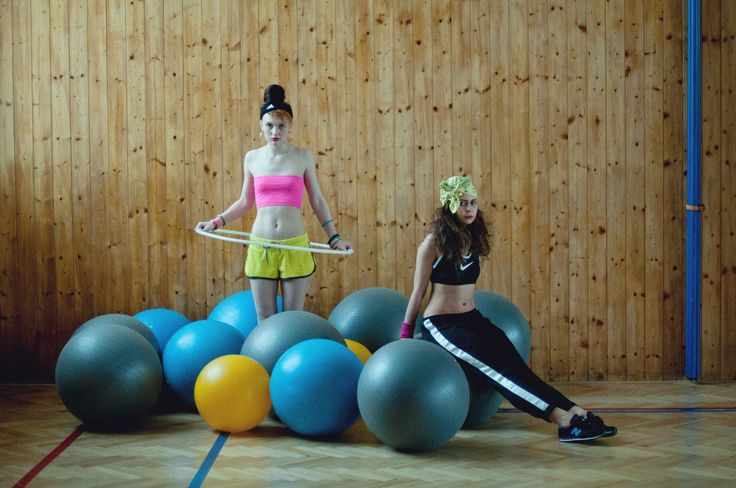 Project: Physical  hair: Kateřina Muratová styling: Alice Reindlová photo: Valentýna Janů model: Jessica Suzan, Jana Jiráňová  #fashion #editorial #physical #school #gym #jerks #drillhall #projecttraining #tumblr