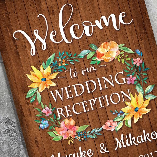【パネル加工印刷】〜vivid flower〜ウェルカムボード結婚式