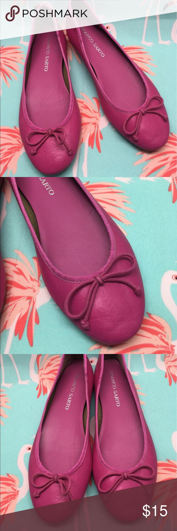 Franco Sarto Hot Pink Ballet Flats Sz 8 EUC SIZE 8  BRAND FRANCO SARTO  COLOR HOT PINK  STYLE BALLET FLATS  EUC  Beautiful shoes that will make an excellent addition to any wardrobe!  Thank you for looking  Feel free to ask me any questions and be sure to check out my page for more items! Franco Sarto Shoes Flats & Loafers