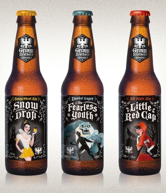 Art and Craft Brews: 15 Beer Labels That We Love :: Blogs :: 1000 Words :: Paste: Packaging Design, Beer Packaging, Grimm Brother, Beer Bottle, Beer Labels, Beer Design, Brother Brewhous, Labels Design, Fairies Tales