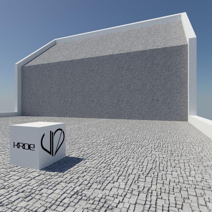 Płyty elewacyjne z betonu GRC Kroe Champagne szare 600x300 cm