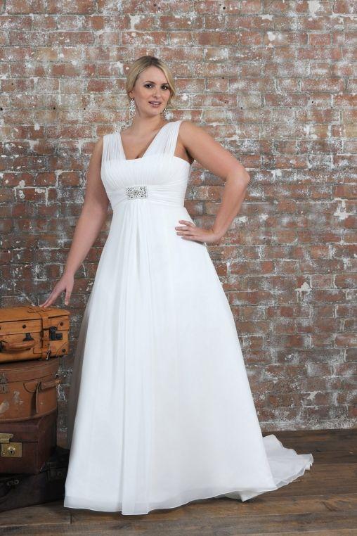 Wedding dresses for chubby ladies