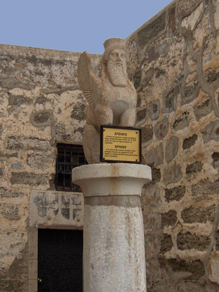 Sphinx dated BC 355, from Bodrum Castle. Originaly from Mausoleum of Halicarnassus(?).