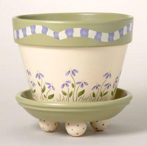 170 Dazy Garden Flower Pot Stencil