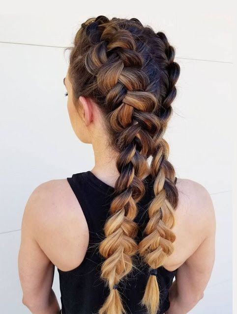 Zwei Französische Zöpfe Frisuren Hair Hair Hair In 2019 Frisuren