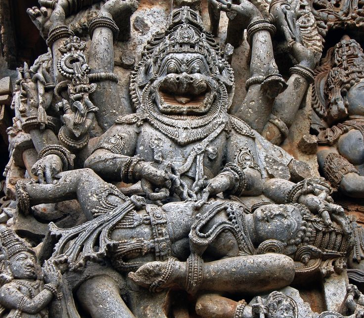 https://flic.kr/p/emo5tk   Ugra Narasimha - Common motif in the Hoysala Dynasty temples