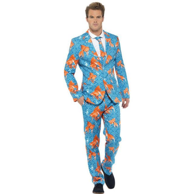 Gold Fish Stand Out Suit Stag Night Mens Party Outfit Fancy Dress Costume 43530 | eBay