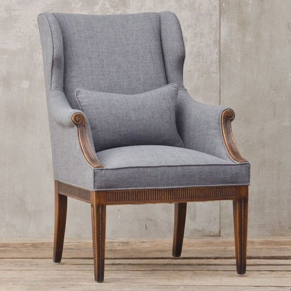 Aleta Josefina Chair ($2,172) ❤ liked on Polyvore featuring home, furniture, chairs, accent chairs, chair, grey accent chairs, gray accent chair, gray furniture, gray chair and grey chair