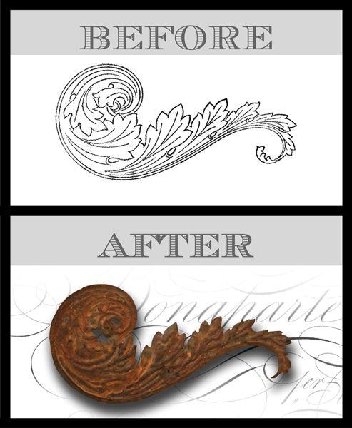 DIY Faux Antique Embellishments Technique - Amazing! - The Graphics Fairy
