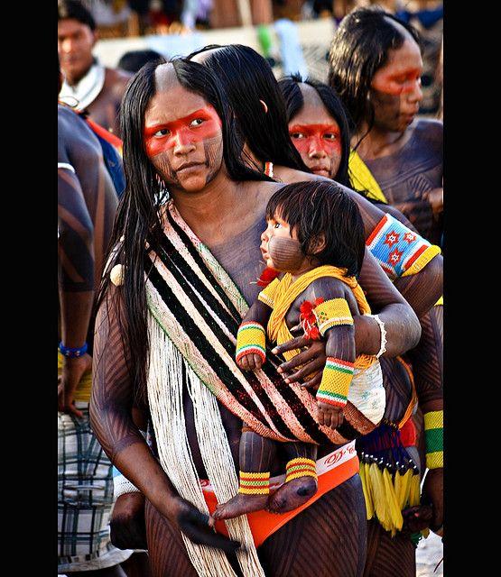 Ethnic Kayapó . Amazon Brazil                                                                                                                                                                                 Mais