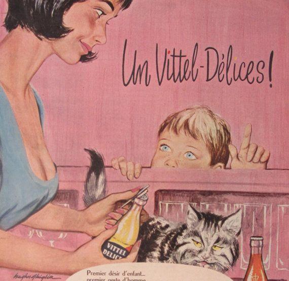 SOLDES H Ghiglia Vittel Délices publicité par SomeVintagePapers