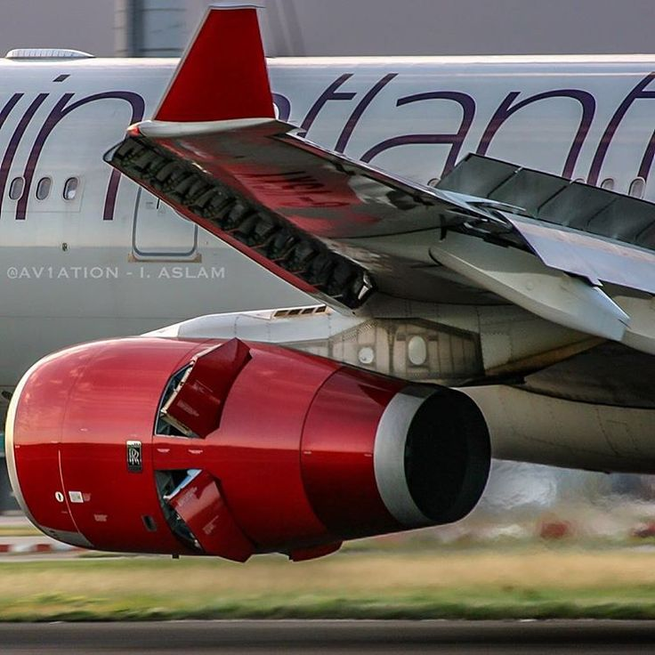 """""""The beauty that is the Rolls Royce Trent 772 -  @VirginAtlantic Airbus A330 (G-VSXY) """"Beauty Queen""""  deploying her reverse thrust and air brakes after…"""""""