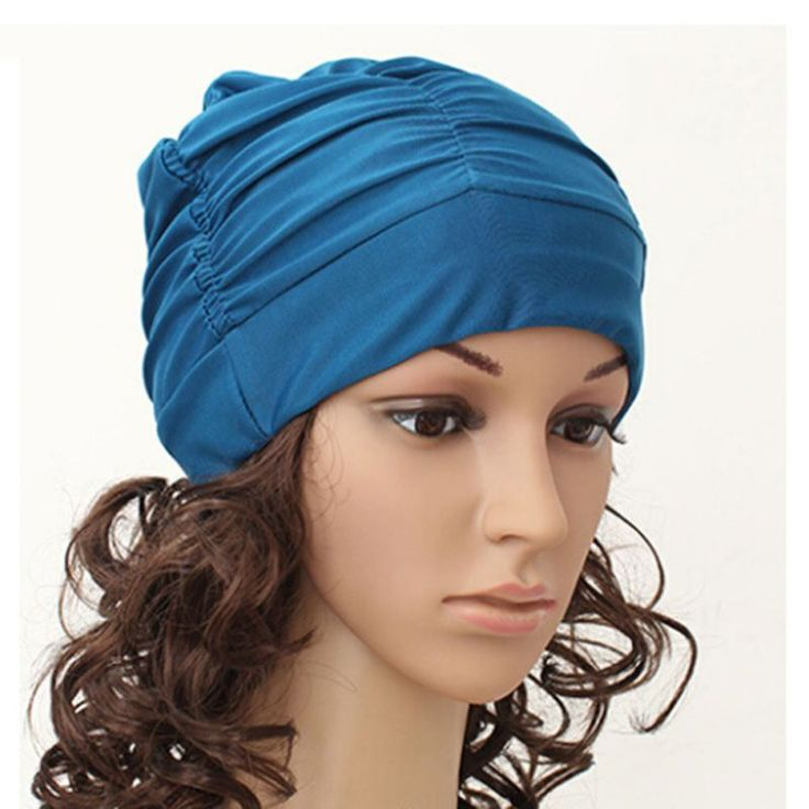 Sexy Womens Girls Drape Stretch Long Hair Swim Cap Hat Bathing Swimming Cap ** Click the VISIT button to view the details