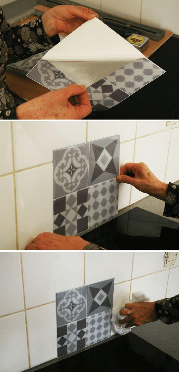 les 25 meilleures id es de la cat gorie dalle adhesive sur pinterest dalle mosaique adhesive. Black Bedroom Furniture Sets. Home Design Ideas