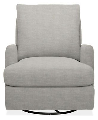 Colton Custom Swivel Glider Chair - Modern Accent & Lounge Custom Chairs - Modern Living Room Furniture - Room & Board