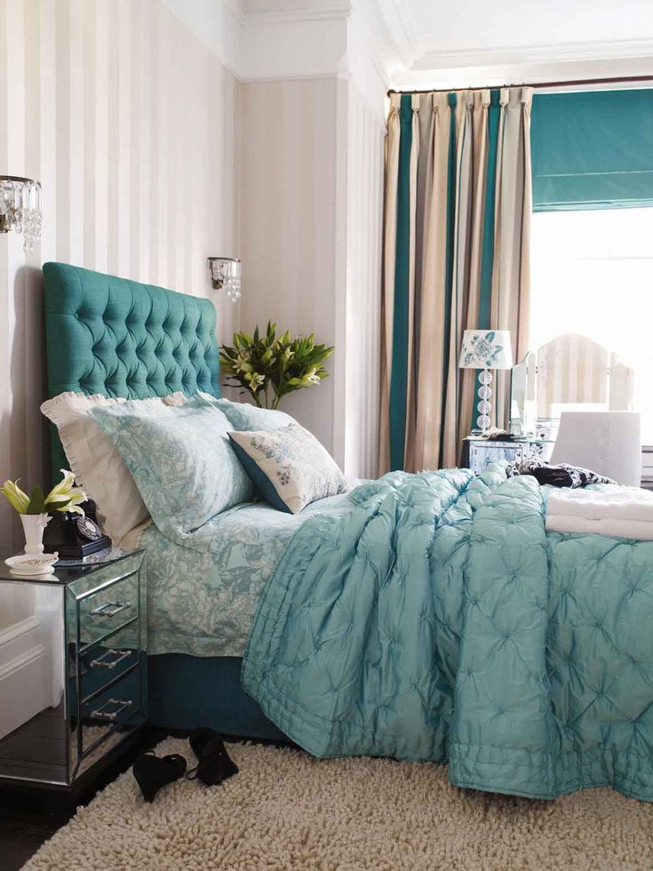 284 Best Turquoise White Black Bedroom Ideas Images On Pinterest Bedrooms My House And Blue Walls