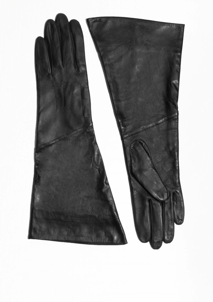 & Other Stories | Leather Gauntlet Gloves