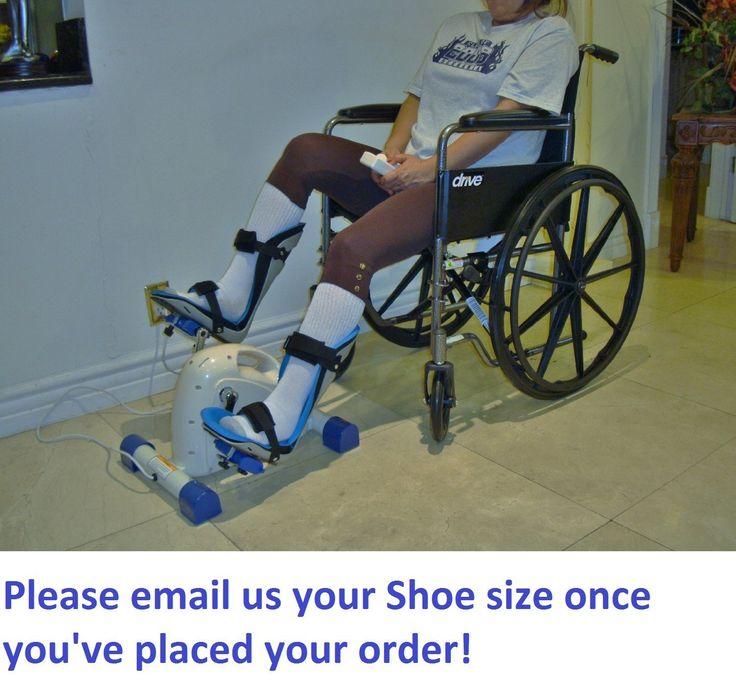 Foot Splints + Motorized Exercise Cycle