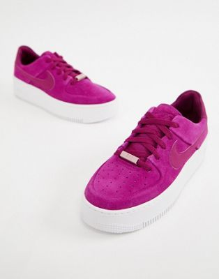 premium selection 2fbe5 780a1 Nike Berry Air Force 1 Sage trainers