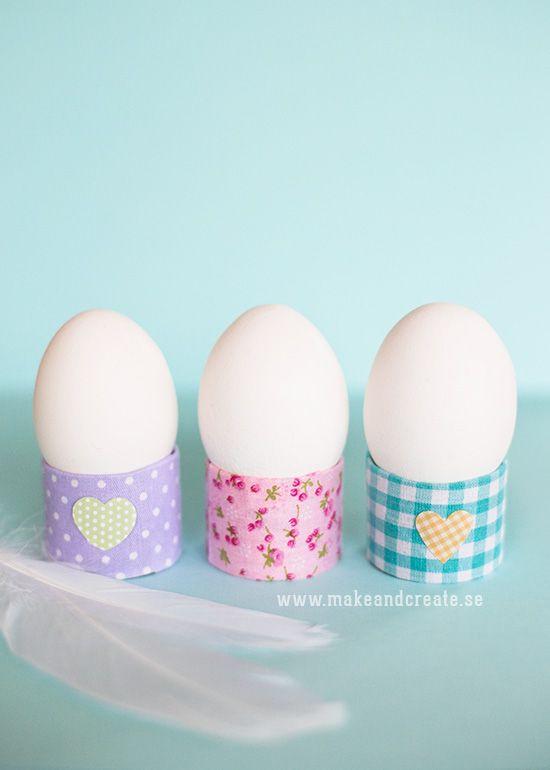 Äggkoppar av toarullar - Pyssel & pysseltips - Make & Create