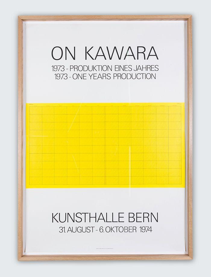 ON KAWARA, 1973- Produktion eines Jahres, 1973- one years production. Kunstalle Bern, 1974. On Kawara, and The Letter Edged in Black Press Inc. Copyright 1968; Druck Serigraphie Albin Uldry, Bern printer 1974.