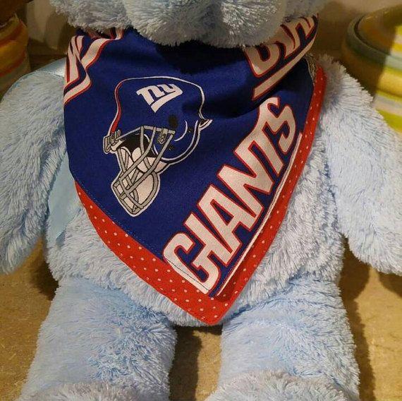Check out this item in my Etsy shop https://www.etsy.com/listing/456665954/ny-giants-baby-bandana-bib-drool-bib