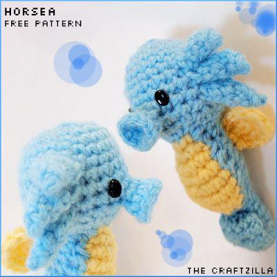 The Craftzilla  Horsea Pokemon Amigurumi Crochet Free Pattern