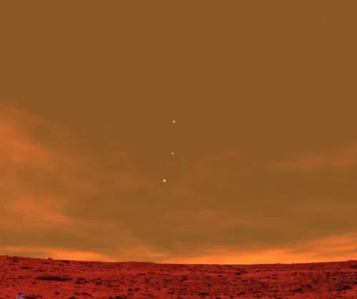 Out of this World! Photo of Earth, Jupiter and Venus as seen from Planet Mars