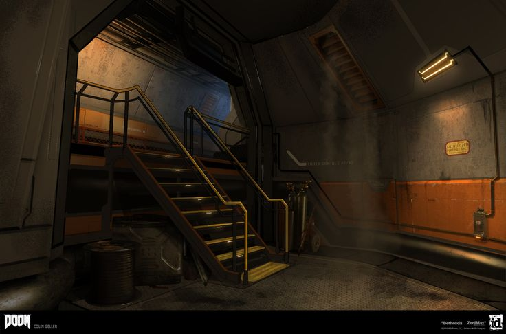 Previsualsation for what became the basis for almost all clean/science/lab areas in DOOM(2016) Official Website : http://doom.com/en-us/ © id Software, LLC, A Zenimax Media Company