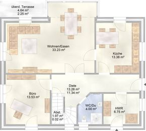 ART 154 – Pultdachhaus Grundriss – unser Musterhaus in Apensen im Kreis Stade