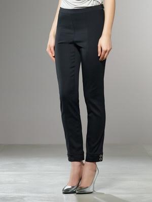 Acquista Pantalone alla caviglia, vestibilità Slim, Tessuto stretch, con cuciture a vista, bottoni in metallo, al fondo gamba